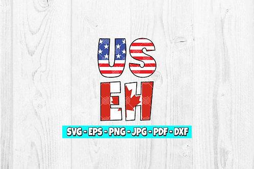US EH svg | American Canadian svg | Canada svg | America svg | USA svg