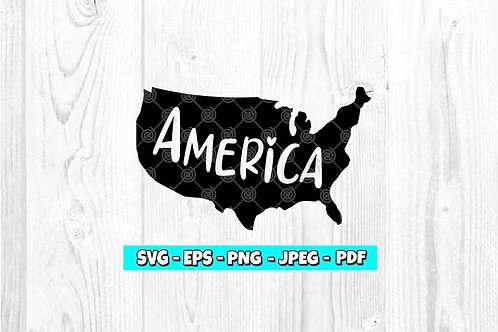 Map America -  Heart (Digital Only)