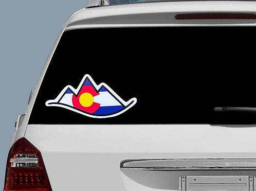 Colorado Mountains Sticker   Colorado Car Decal   Colorado Flag   Bumper Sticker
