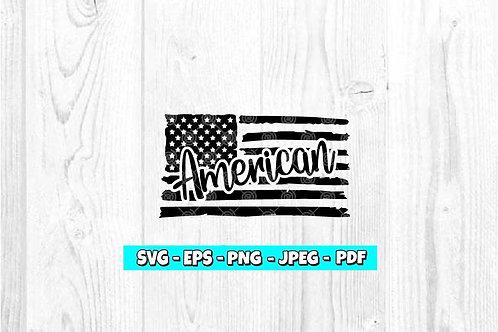American Flag SVG (Digital Only)