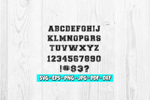 Jersey Font SVG | Sports Jersey svg | Sports Clipart | Varsity svg