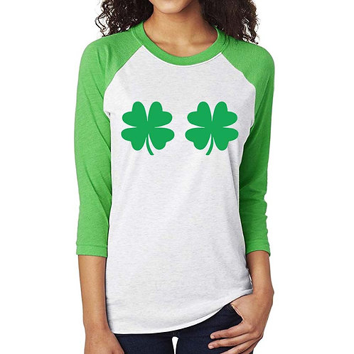 Double 4 Leaf Clover Shirt (Decal Only)