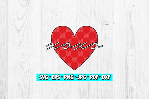 XOXO Heart SVG | Valentines Day SVG | XOXO SVG | Hugs SVG | Kisses SVG