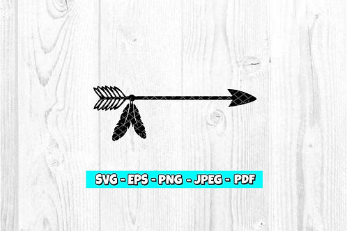 Arrow With Feather SVG (Digital Only)