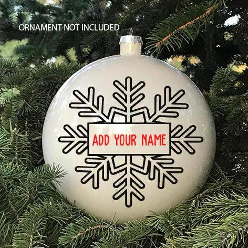 Custom Snowflake Decal | Create Your Own | Name Decal | Custom Vinyl Decal