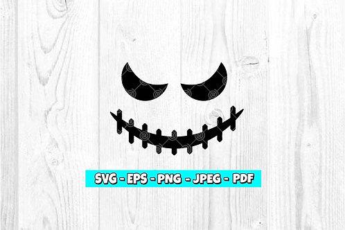 Scary Skeleton Face SVG