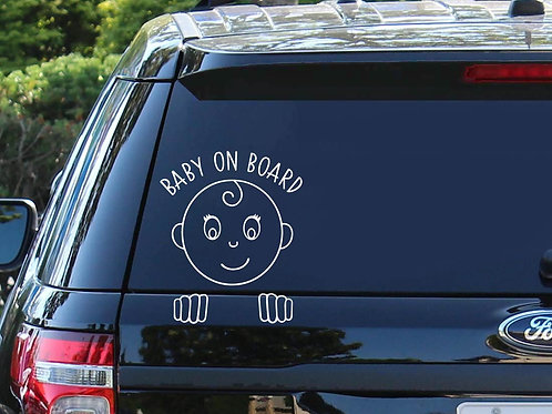 Baby On Board Car Decal | Baby Shower Gift | Baby on board Sticker | New Mom