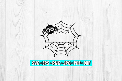 Spider Web Decal | Kids Halloween | Personalized Name | Spider Web | Custom Name