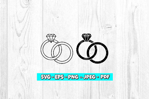 Diamond Rings SVG, EPS, PNG, JPEG, PDF
