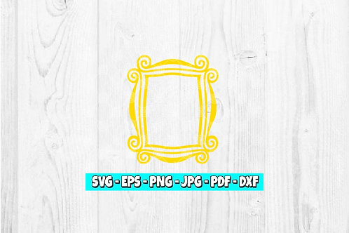 Friends Frame SVG   Peephole Frame   Yellow Picture Frame   Monica's Door