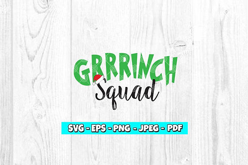 Grrrinch Squad With Hat SVG