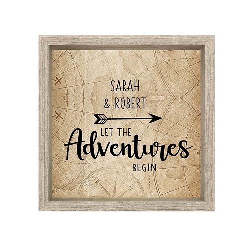 Let The Adventure Begin Vinyl Decal | Mountain Car Decal | Travel Decal