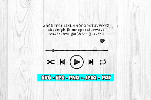 Music Player SVG (Digital Only)