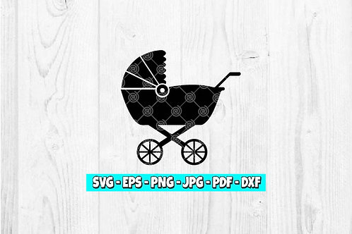 Stroller SVG | Buggy svg | Pram svg | Baby Stroller | Baby svg | Mother svg