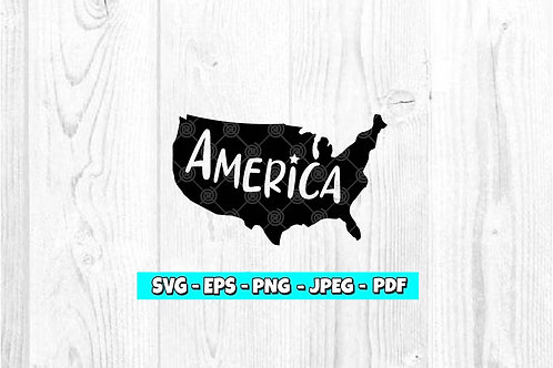 Map America -  Star (Digital Only)