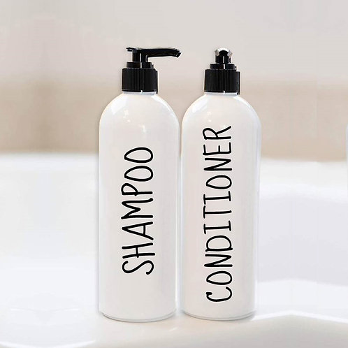 Shampoo, Conditioner, Face Wash Decal | Custom Vinyl Decal | Your Text Here