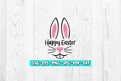 Happy Easter SVG | Bunny svg | Easter svg | Good Friday | Bunny svg