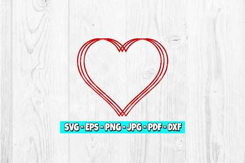 Heart svg | Valentine svg | Hearts svg | Valentine's Day | Simple Hearts Svg