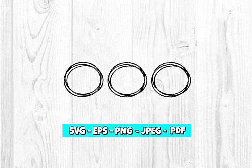 3 Circles SVG (Digital Only)