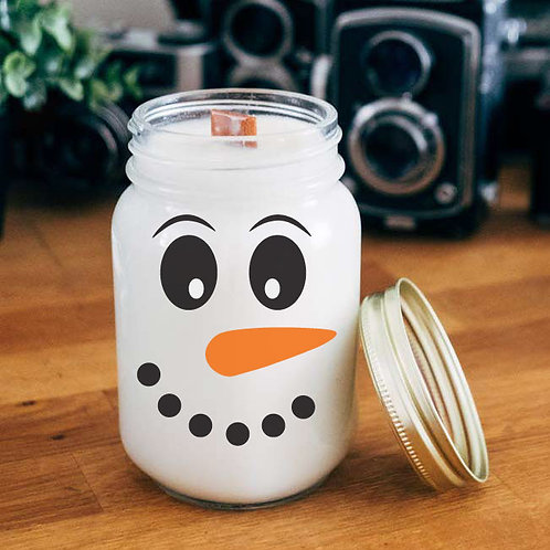 Snowman Face |  Christmas Decal | Winter Decal