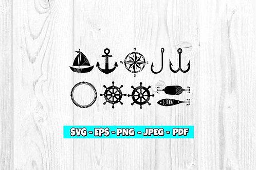 Nautical Bundle SVG (Digital Only)