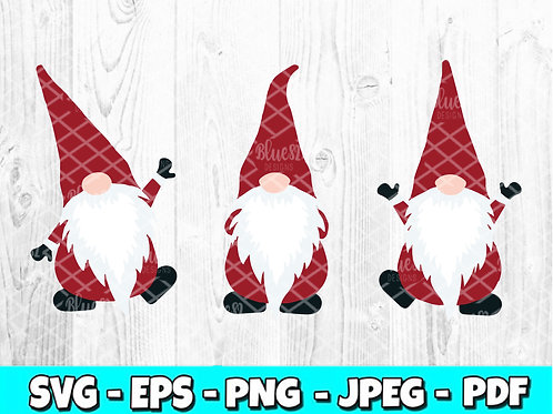 Red Gnomes SVG, EPS, PNG, JPEG, PDF
