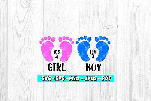 It's a Boy & It's a Girl SVG *BOLD* (Digital Only)