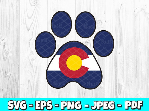 Colorado Paw Decal (Digital Only)
