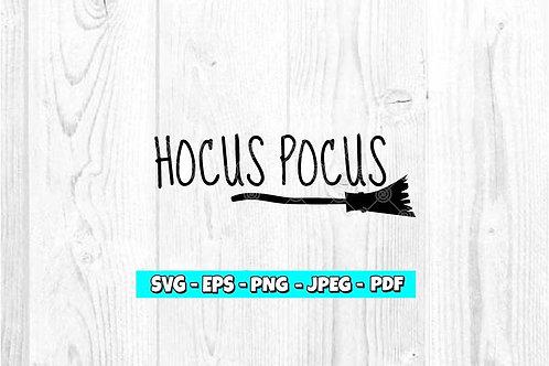 Hocus Pocus Broom SVG