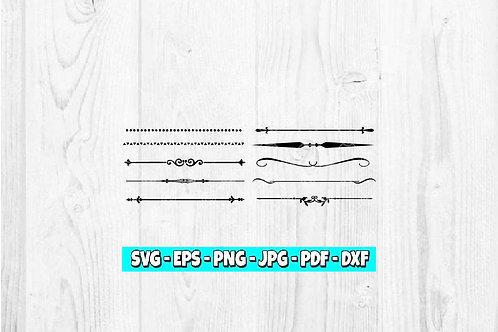 10 Dividers SVG | Website svg | Website Divider svg | Divider Clipart