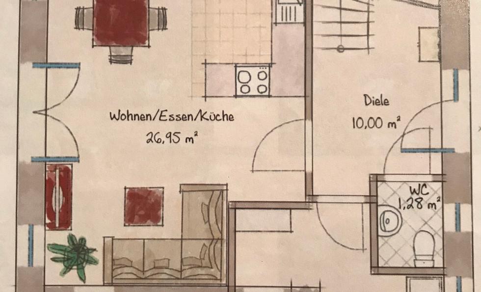 De-Beers-Hus Erdgeschoss