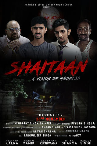 """Tranza Studios presents  """"shaitaan: a vision of madness"""" the Indian murder mystery thriller film based on an original fiction."""