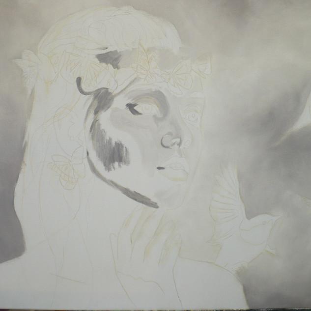 Je fais mon dessin , mon background ensuite je lui est fais la peau ...