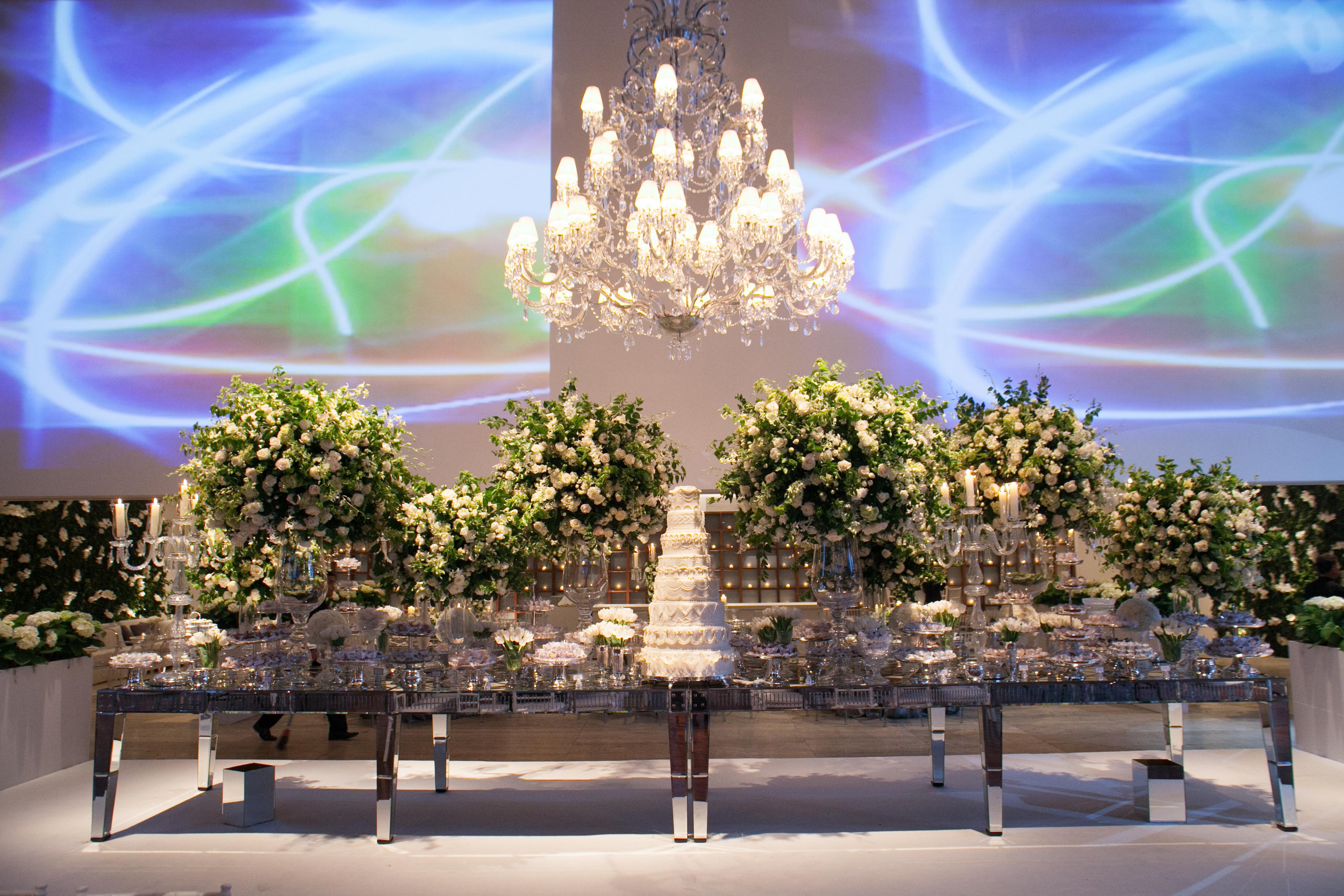 Mesa de doces - Casamento Fasano
