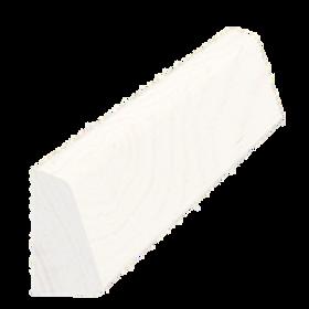 Skureliste fyr hvid 5176, 12x21 mm, pris pr. meter