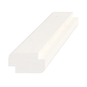 Skyggeliste, fyr 5279, hvidmalet, 15x27 mm, pris pr. meter