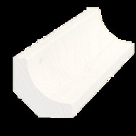 Hulkehlliste, fyr hvid 5067, 27x27 mm, pris pr. meter