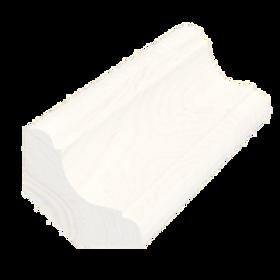 Hulkehlliste, fyr almue hvid 5355, 27x27 mm, pris pr. meter