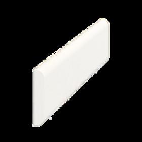 Vægliste fyr hvid 5034, 5x27 mm, pris pr. meter
