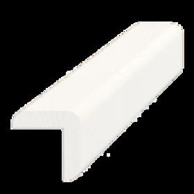 Hjørneliste, fyr hvid 5274, 20x20 mm, pris pr. meter