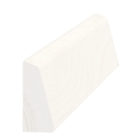 Skureliste fyr hvid 5178, 15x33 mm, pris pr. meter