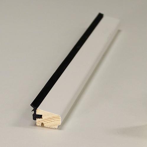 Glasliste 4135 med fals & EPDM, fyr VAC/HVID 15x21 mm pris pr. meter