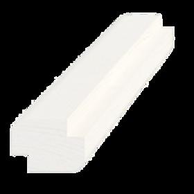 Skyggeliste, fyr 5280 hvid, 15x21 mm, pris pr. meter