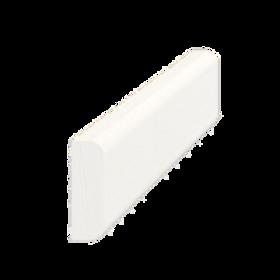 Vægliste fyr hvid 5012, 9x27 mm, pris pr. meter
