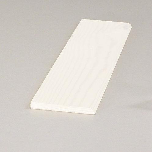 Forkantliste, fyr 5035 hvid, 5x55 mm, pris pr. meter