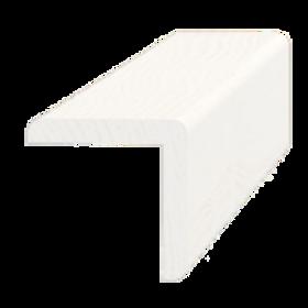 Hjørneliste, fyr hvid 5272. 42x42 mm, pris pr. meter