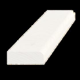 Forkantliste, fyr hvid 5002, 9x27 mm, pris pr. meter