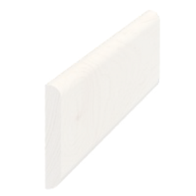 Vægliste fyr hvid 5150, 5x33 mm, pris pr. meter