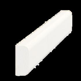Vægliste fyr hvid 5011, 9x21 mm, pris pr. meter
