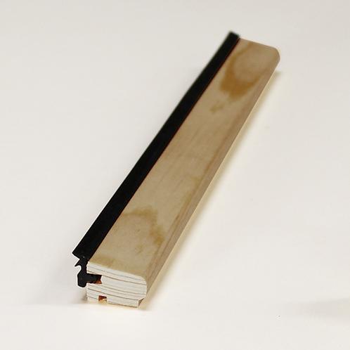 Glasliste 4140 med fals & EPDM liste, mahogni 15x21 mm pris pr. meter